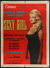 9j020 COME DANCE WITH ME linen Italian 1p 1959 full-length beautiful Brigitte Bardot is Sexy Girl!