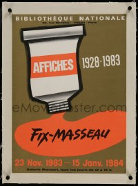 9j075 FIX-MASSEAU linen 16x22 French art exhibition 1983 great art of paint squeezed from tube!