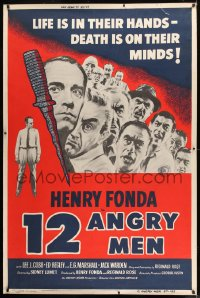 9k008 12 ANGRY MEN 40x60 1957 Sidney Lumet classic, life is in their hands, death is on their minds!