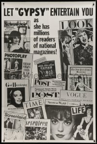9k012 GYPSY 40x60 1962 Natalie Wood has millions of readers of every national magazine, ultra rare!