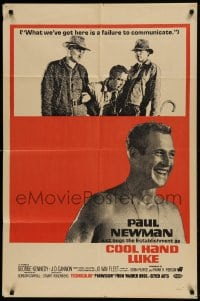 9k089 COOL HAND LUKE military 1sh 1967 Paul Newman, most classic tagline, different & ultra rare!