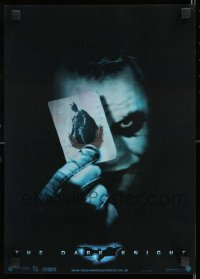 9k178 DARK KNIGHT lenticular English 12x17 2008 Ledger as Joker, Bale as Batman, Eckhart as Dent!
