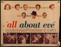 9k055 ALL ABOUT EVE style A 1/2sh 1950 Bette Davis & Anne Baxter classic, Marilyn Monroe shown, rare