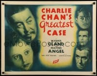 9k027 CHARLIE CHAN'S GREATEST CASE 1/2sh 1933 Asian detective Warner Oland & top cast, ultra rare!