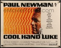 9k057 COOL HAND LUKE 1/2sh 1967 Paul Newman prison escape classic, cool art by James Bama!