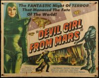 9k025 DEVIL GIRL FROM MARS 1/2sh 1955 Earth menaced by fantastic powers, sexy female alien!