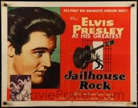 9k059 JAILHOUSE ROCK 1/2sh 1957 classic art of rock & roll king Elvis Presley by Bradshaw Crandell!