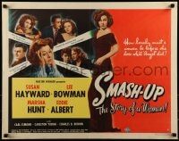 9k061 SMASH-UP style A 1/2sh 1946 Susan Hayward as the sexy alcoholic wife of crooner Lee Bowman!