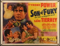 9k029 SON OF FURY 1/2sh 1942 Tyrone Power as Benjamin Blake, Gene Tierney, Frances Farmer, rare!