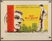9k063 SWEET SMELL OF SUCCESS style A 1/2sh 1957 Burt Lancaster as Hunsecker, Tony Curtis as Falco!