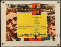 9k064 SWEET SMELL OF SUCCESS style B 1/2sh 1957 Burt Lancaster as Hunsecker, Tony Curtis as Falco!