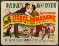 9k065 TICKET TO TOMAHAWK 1/2sh 1950 Dan Dailey & Anne Baxter, Marilyn Monroe pictured!