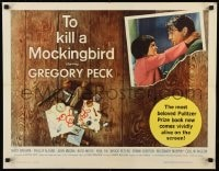9k066 TO KILL A MOCKINGBIRD 1/2sh 1963 Gregory Peck classic, Harper Lee's famous novel!