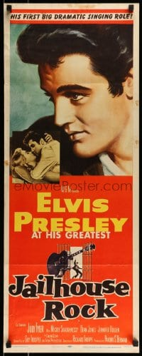 9k041 JAILHOUSE ROCK insert 1957 classic Bradshaw Crandell art of rock & roll king Elvis Presley!