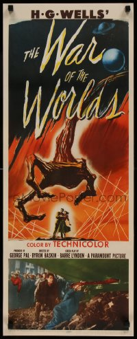 9k033 WAR OF THE WORLDS insert 1953 H.G. Wells classic produced by George Pal, best monster art!