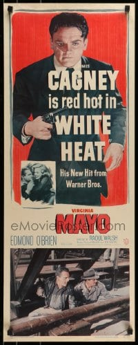 9k054 WHITE HEAT insert 1949 classic full-length image of red hot James Cagney as Cody Jarrett!