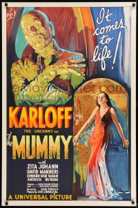 9k074 MUMMY S2 recreation 1sh 1999 $450,000 image at a fraction of the price, art of Boris Karloff!
