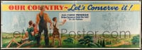 9k002 AAA FARM PROGRAM 42x120 special poster 1930s helps farmers hold soil for the nation, rare!