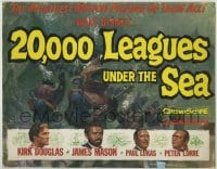 9k015 20,000 LEAGUES UNDER THE SEA 11x14 standee 1955 Jules Verne classic, art from the posters!