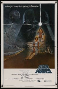 9k078 STAR WARS style A first printing int'l 1sh 1977 George Lucas classic epic, art by Tom Jung!