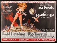 9k003 BARBARELLA subway poster 1968 sexy sci-fi art of Jane Fonda by Robert McGinnis, Roger Vadim!