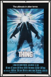 9k080 THING 1sh 1982 John Carpenter classic sci-fi horror, Drew Struzan, regular credit design!