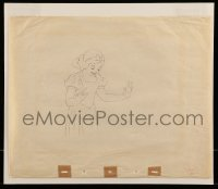 9m103 SNOW WHITE & THE SEVEN DWARFS 13x16 animation drawing 1937 she's standing & smiling close up!