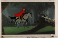 9m078 SLEEPING BEAUTY animation cel 1959 Prince Phillip on his horse, Walt Disney cartoon classic!