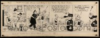 9m011 MUTT & JEFF 11x30 original comic strip art 1930 Bud Fisher's duo in a poker playing gag!