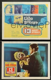 9r021 13 WEST STREET 8 LCs 1962 Alan Ladd, Rod Steiger, as shocking as a scream in the night!