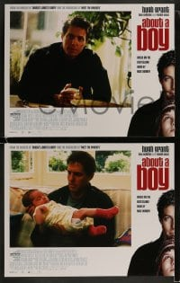 9r026 ABOUT A BOY 8 LCs 2002 Hugh Grant, Toni Collette, growing up has nothing to do with age!