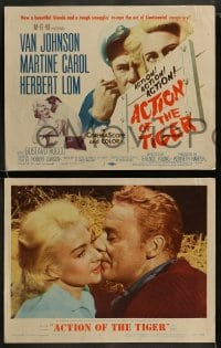 9r028 ACTION OF THE TIGER 8 LCs 1957 Van Johnson & Martine Carol try to escape conspiracy!