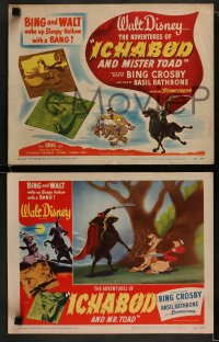 9r030 ADVENTURES OF ICHABOD & MISTER TOAD 8 LCs 1949 BING and WALT wake up Sleepy Hollow with a BANG