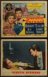 9r031 ADVENTURES OF QUENTIN DURWARD 8 LCs 1955 English hero Robert Taylor romances Kay Kendall!