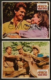 9r035 AFRICA - TEXAS STYLE 8 LCs 1967 Hugh O'Brian, John Mills, great cowboy images!