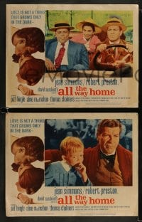 9r039 ALL THE WAY HOME 8 LCs 1963 Jean Simmons & Robert Preston from a James Agee novel!