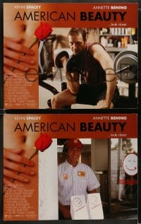 9r041 AMERICAN BEAUTY 8 LCs 1999 Sam Mendes Academy Award winner, Kevin Spacey, Annette Benning!
