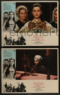 9r046 ANNE OF THE THOUSAND DAYS 8 LCs 1970 cool images of King Richard Burton & Genevieve Bujold!