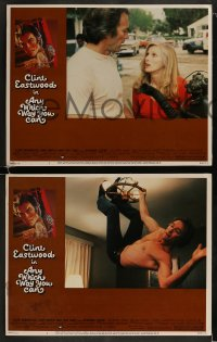 9r048 ANY WHICH WAY YOU CAN 8 LCs 1980 Clint Eastwood & Clyde the orangutan, sexiest Sondra Locke!