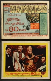 9r050 AROUND THE WORLD IN 80 DAYS 8 LCs 1958 1000 wonders never before seen, cool balloon art on tc