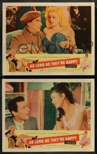 9r051 AS LONG AS THEY'RE HAPPY 8 LCs 1957 Diana Dors, Janette Scott, Jean Carson!