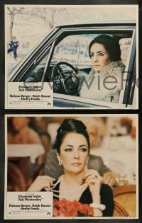 9r052 ASH WEDNESDAY 8 LCs 1973 beautiful aging Elizabeth Taylor gets extensive plastic surgery!