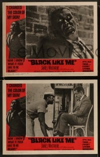 9r066 BLACK LIKE ME 8 LCs 1964 Carl Lerner, James Whitmore, know what it feels like to be black!