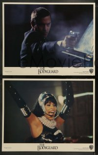 9r073 BODYGUARD 8 LCs 1992 great images of Kevin Costner & Whitney Houston!
