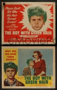 9r076 BOY WITH GREEN HAIR 8 LCs 1948 great images of Dean Stockwell, a kid who wants to end war!