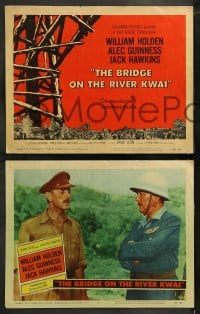 9r079 BRIDGE ON THE RIVER KWAI 8 LCs 1958 William Holden, Alec Guinness, David Lean WWII classic!