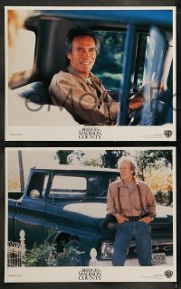 9r080 BRIDGES OF MADISON COUNTY 8 LCs 1995 Clint Eastwood directs & stars w/Meryl Streep!