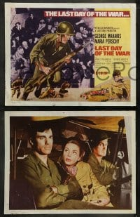 9r013 LAST DAY OF THE WAR 9 LCs 1969 World War II soldier George Maharis, Maria Perschy!