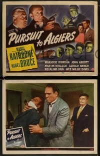 9r002 PURSUIT TO ALGIERS 6 LCs 1945 Basil Rathbone as Sherlock Holmes & Nigel Bruce as Dr. Watson!