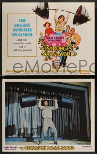 9r019 STRONGEST MAN IN THE WORLD 9 LCs 1975 Walt Disney, teenage Kurt Russell, Phil Silvers!